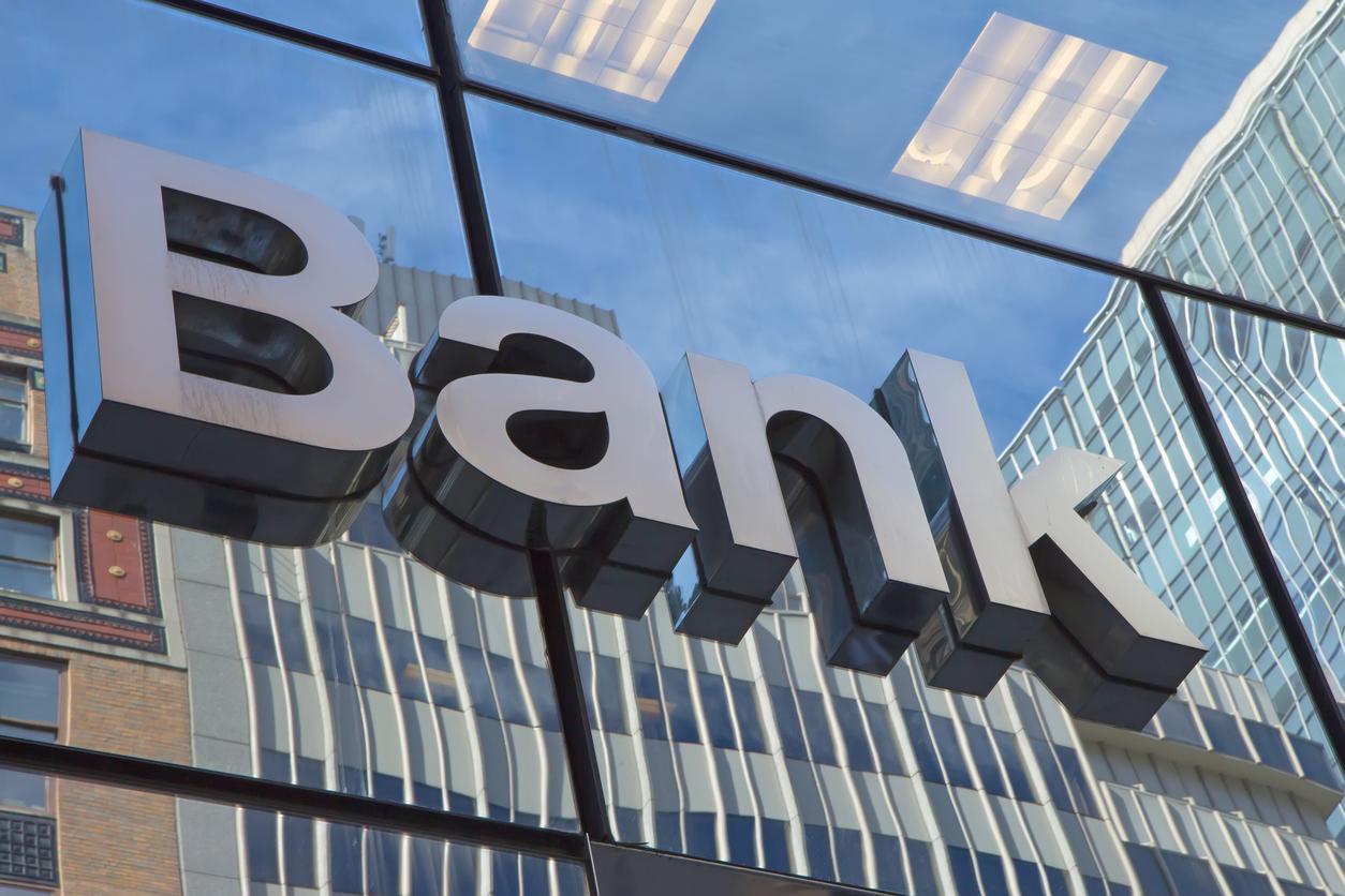 Картинка с надписью банк