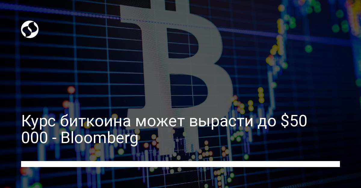Курс биткоина может вырасти до $50 000 - Bloomberg