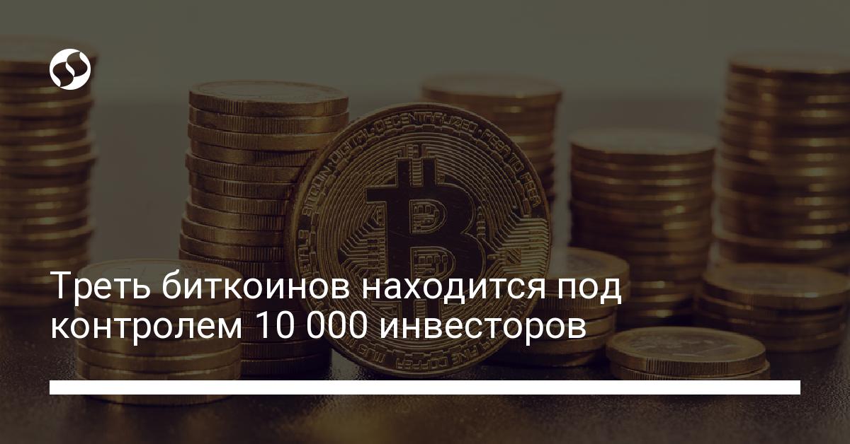 Треть биткоинов находится под контролем 10 000 инвесторов