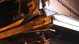 Здание Киевгорстроя обстреляли из гранатомета - фото